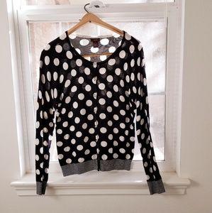 Sweaters - Polkadot Cardigan sweater